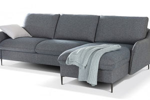 Canapé d'angle convertible couchage quotidien