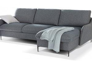 Canapé d'angle convertible couchage quotidien