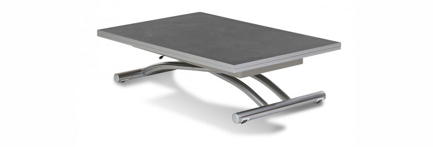 Table basse relevable gain de place